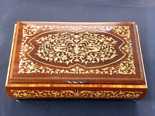 ITALY - REUGE - MUSIC / JEWELRY BOX - HAND INLAID - SWISS WORKS - LOVE STORY ...