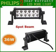 2X 8Inch 36W Philips Spot Led Work Light Bar Offroad SUV Jeep UTE Boat 4WD Lamp