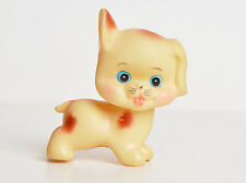 Vintage 60s Puppy Dog Squeaky Japanese Vinyl Sofubi Figure Made in Japan