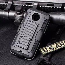 For Motorola Moto X 2nd Gen X+1 Rubber Hard Case Cover Belt Clip Holster w/Stand