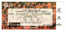 """Collection Rugby Ticket """"H Cup """" Stade Toulouse - Gloucester Rugby 19/01/2020"""