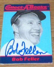 Indians Bob Feller Autographed Card