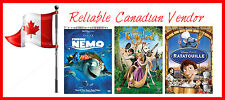 FINDING NEMO, TANGLED, RATOUILLE - 3 MOVIE DVD SET