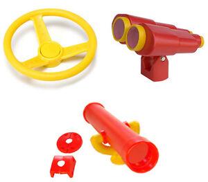Playground Yellow STEERING WHEEL BINOCULARS TELESCOPE Tree Cubby House PLAYPAC1