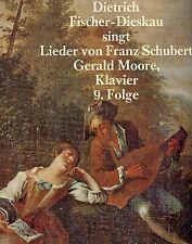 DIETRICH FISCHER-DIESKAU SINGT CANCIONES DE SCHUBERT GERALD MOORE 9 EPISODIO LP