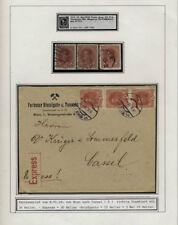 Briefmarken aus Österreich (1867-1918) - Ungarn Mehrfachfrankatur