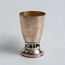 PROMO GLASS GOBLET HEBREW WATER OF EDEN MEY EDEN LOGO SET OF TWO