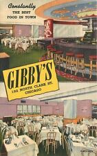 1940s Interior Furniture Gibby's Restaurant Chicago Illinois Teich 7981