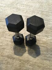 (2) 7.5lbs ( York )Dumbbells 15lbs Total Home Gym Strength Equipment-Rubber Hex!