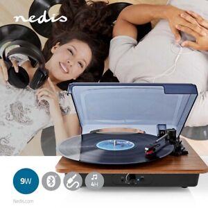 Platine Vinyle Bluetooth 33 rpm / 45 rpm / 78 rpm | Courroie | 1x Stéréo RCA
