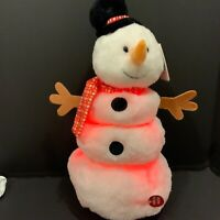 Frosty The Snowman 16 in Plush Animated Up Down Musical Color Changing Snowman