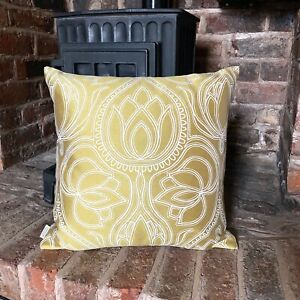 1037. Vintage gold flowers Jacquard Cushion Cover Various sizes