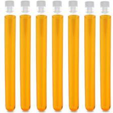 16x150mm PS Test Tubes, Round Bottom, Neon Orange Karter Scientific (100 pack)