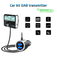 LCD In-Car DAB Radio Receiver Tuner USB Adapter FM Transmitter Antenna