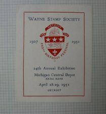 1951 Wayne Stamp Society Philatelic Souvenir Label Ad Set of 3