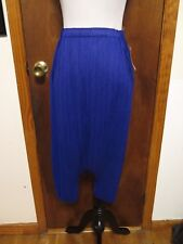 Issey Miyake Pleats Please Blue Drop Crotch Fisherman Pants Sz 3/OS