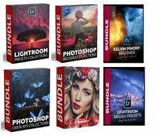 Photoshop Photography Bundle - Action, Brushes, Overlays