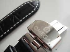 WATCH STRAP Genuine Leather 18 mm OMEGA Black
