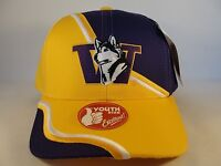 Kids Youth Size NCAA Washington Huskies Vintage Adjustable Strap Hat Cap