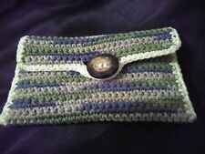 Small Wallet / Credit Card & Cash Wallet / Hand Crocheted / Phone Pouch