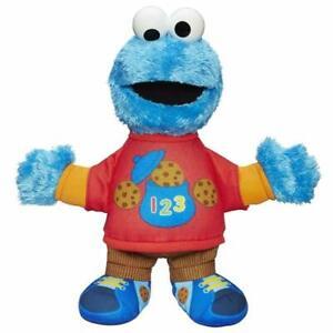 Figura monstruo come galletas parlante plaza Sésamo habla conversa bebes niños