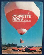 Prospekt brochure Corvette News February / March 1975 (USA)