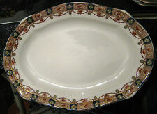 Lovely medium pottery platter with Jewel mark to base approx 12ins x 8.5ins
