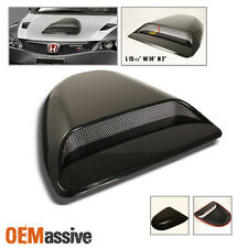Fits Unplainted Black Abs Plastic Sport Racing Evolution Style Hood Scoop W/Mesh