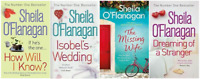 SHEILA O'FLANAGAN 4 BOOK SET VERY GOOD THE MISSING WIFE