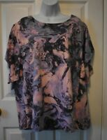 Livi Lane Bryant nwt active top womens 18 20 Galaxy print pink purple