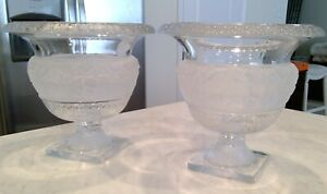 Crystal Shannon Design by Godinger Vases/Urns Pair $175 Excellent Condition