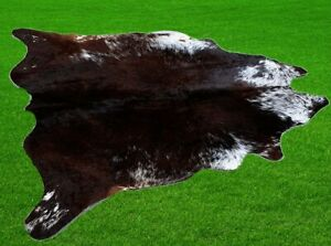 """New Cowhide Rugs Area Cow Skin Leather 17.69 sq.feet (52""""x49"""") Cow hide A-8709"""