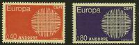 French Andorra Scott #196-97, Singles 1970 Complete Set FVF MNH