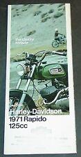 1971 HARLEY DAVIDSON MOTORCYCLE RAPIDO 125 CC SALES BROCHURE   (940)