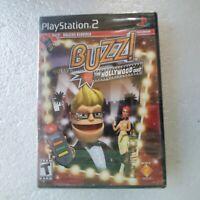 Buzz! The Hollywood Quiz (Sony PlayStation 2, PS2) *NEW - SEALED - NO BUZZERS*