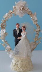 Vintage 1970s COAST NOVELTY Wedding Cake Topper