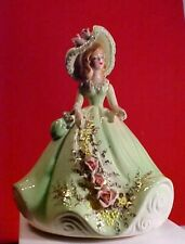 "Vtg. Josef ""Musicale"" Series Porcelain Figural, Plays ""Cabaret"" Elaborate Dress"