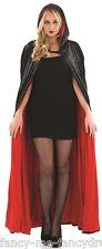 Adulto Largo Terciopelo Negro Con Capucha Vampiro Para Halloween Capa Disfraz