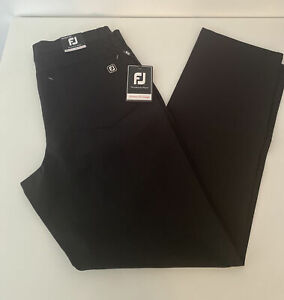 FootJoy Mens Performance Golf Pants AF Athletic Slimmer Fit Design Black 30x30