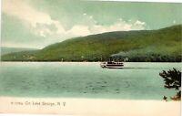 Vintage Postcard - Steamer Ship Cruising On Lake Lake George New York NY #4227
