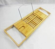 Bambus Badewannenablage ausziehbares Wannentablett Glas-Halterung  iPad-Ablage