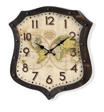 Orologio Vintage da parete metallo Mappamondo Globi