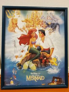"""Vintage 1989 The Little Mermaid Disney BANNED Movie Poster 20""""x16"""" osp"""