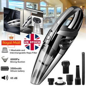 Powerful 6000Pa Handheld Car Vacuum Cleaner Portable Home Wireless Dust Buster
