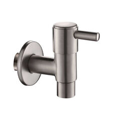 "Stainless Steel Faucet Water Tap 1/2"" Garden Garage Bibcock Valve Basin Sink"