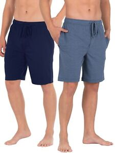 Men's Fruit of the Loom Breathable Mesh, 2-Pack, Sleep Shorts, S/CH or 2XL, NEW