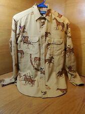 New listing 80s Vintage Ladies Ralph Lauren Polo Denim Shirt Equestrian Bridle Vtg Women's 4