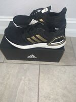 Adidas ultra boost 20  BLACK AND GOLD Size 10.5 Mens EE4393
