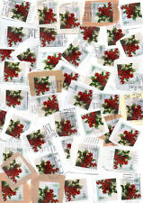 GB 100+ used Christmas stamps. Great for decoration. Lot 1. Combined Postage
