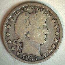 1895 US Barber Quarter Silver 25C Coin Good Condition Twenty Five Cent M4